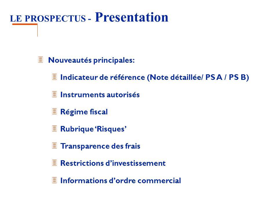 LE PROSPECTUS - Presentation
