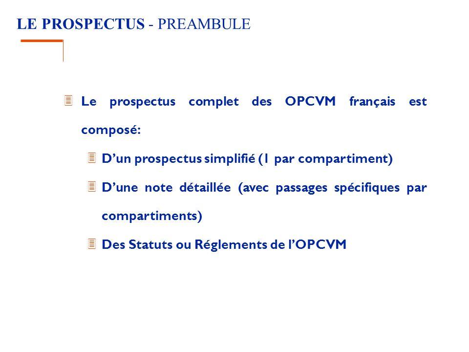 LE PROSPECTUS - PREAMBULE