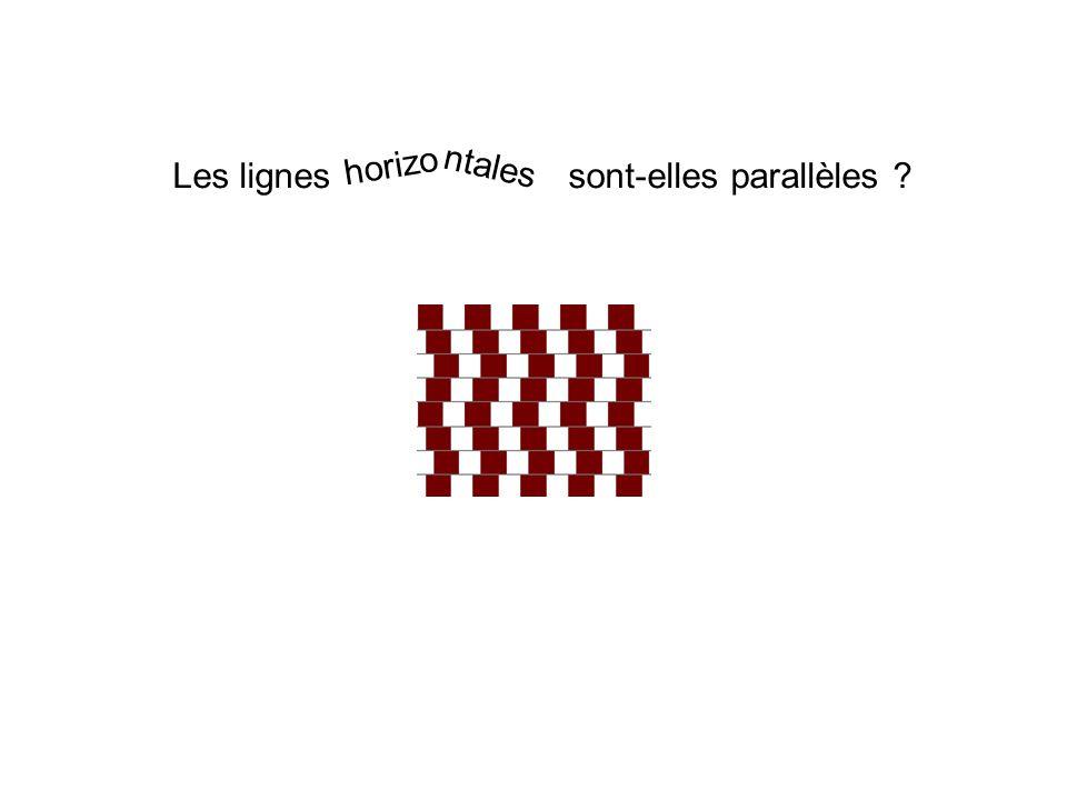 Les lignes sont-elles parallèles