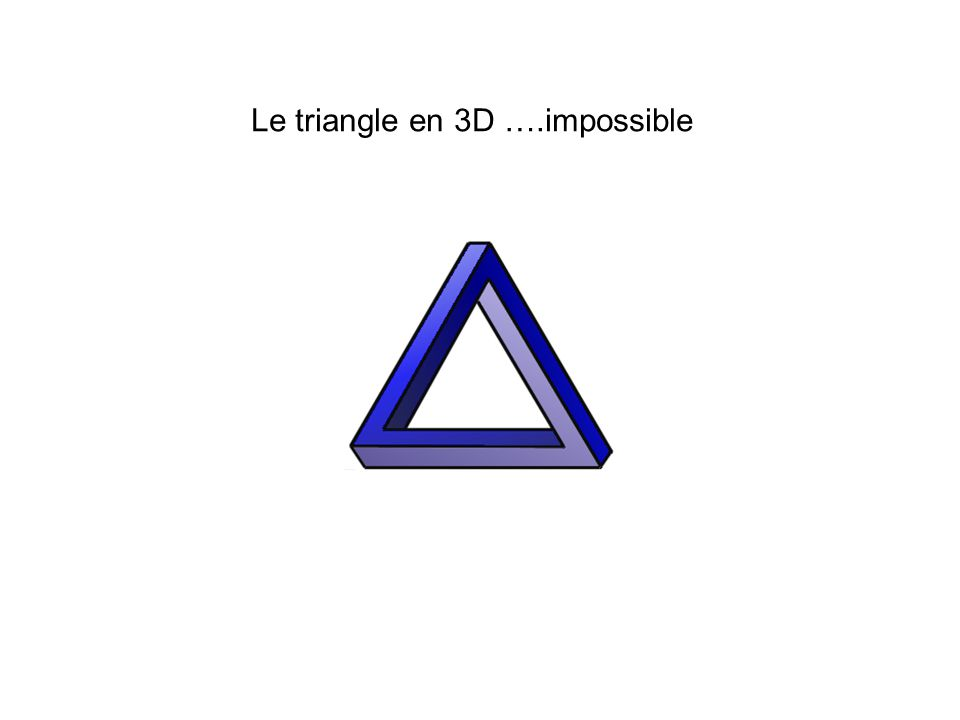 Le triangle en 3D ….impossible