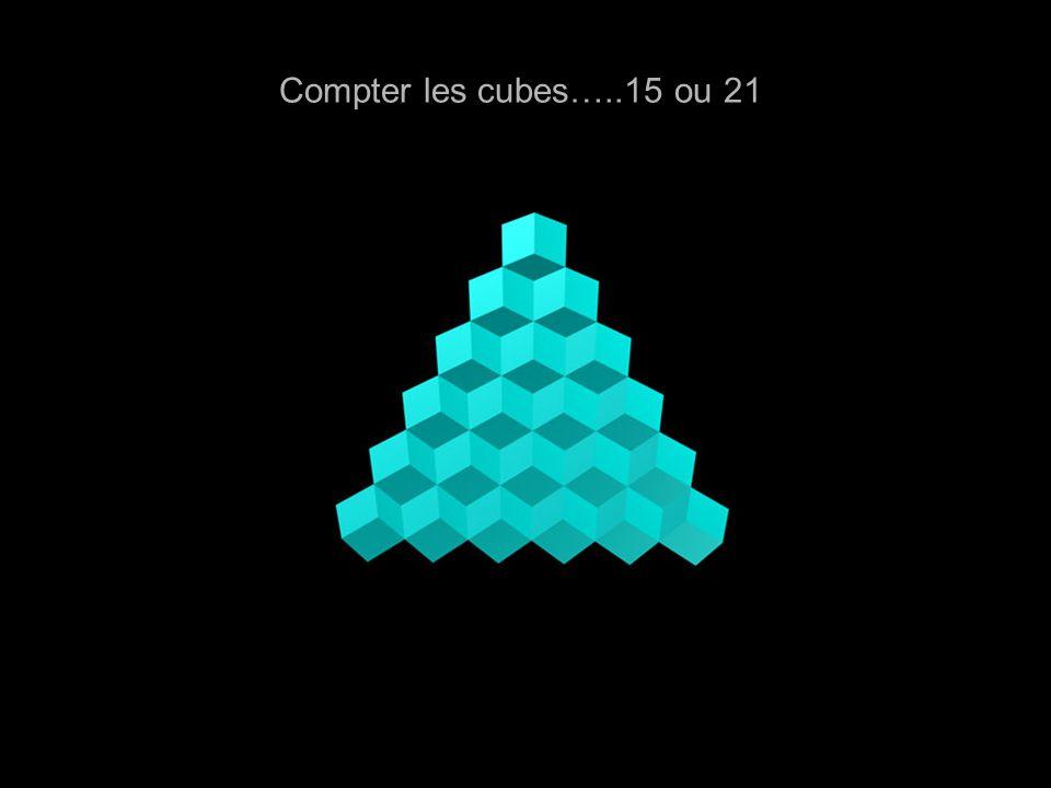 Compter les cubes…..15 ou 21