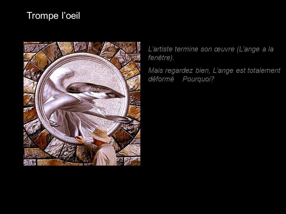Trompe l'oeil L'artiste termine son œuvre (L'ange a la fenêtre).
