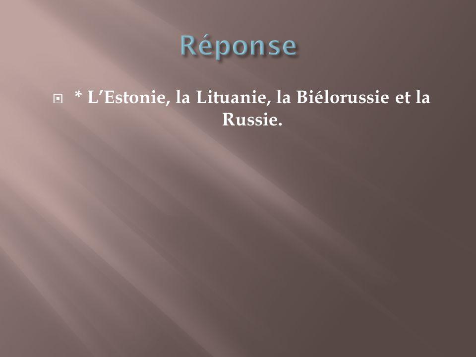 * L'Estonie, la Lituanie, la Biélorussie et la Russie.
