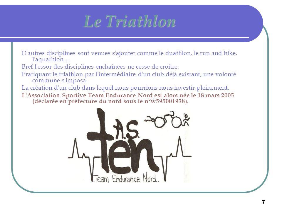 Le Triathlon D autres disciplines sont venues s ajouter comme le duathlon, le run and bike, l aquathlon.....