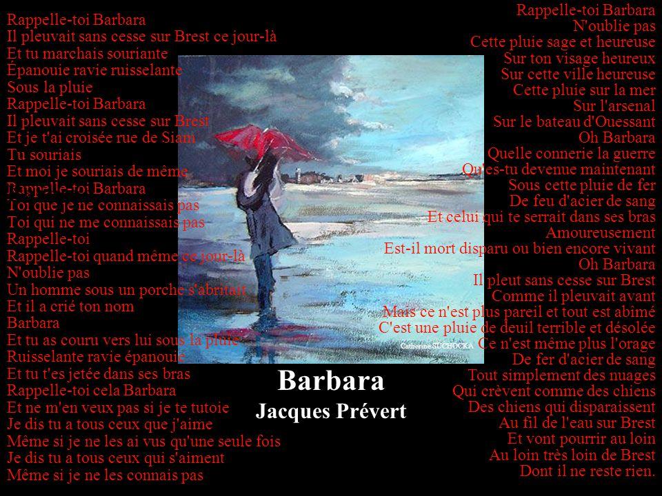 Barbara Barbara Jacques Prévert