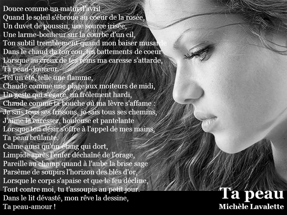 Ta peau Michèle Lavalette