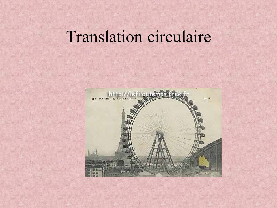 Translation circulaire