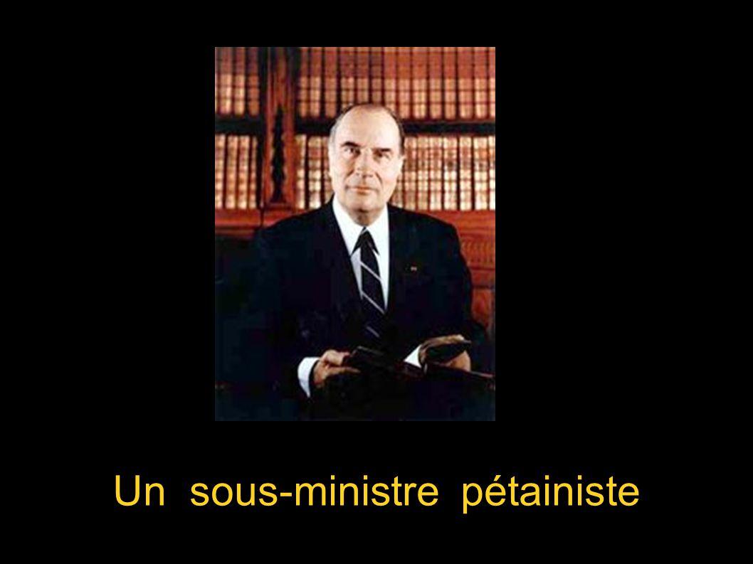 Un sous-ministre pétainiste