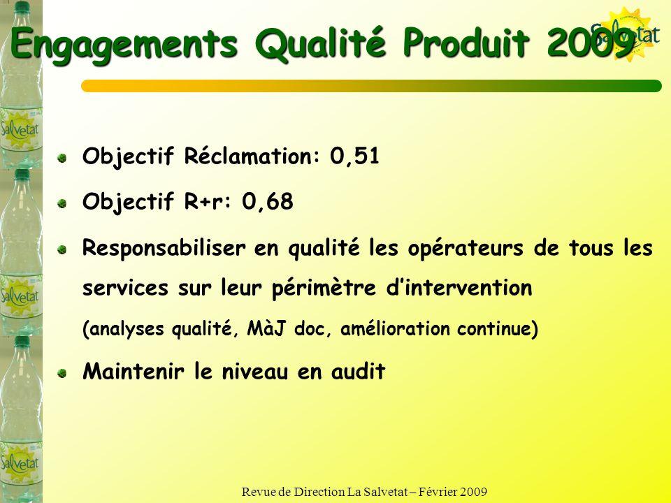 Engagements Qualité Produit 2009