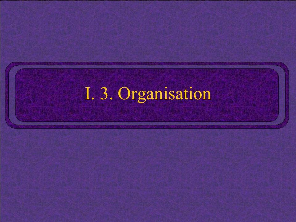 I. 3. Organisation