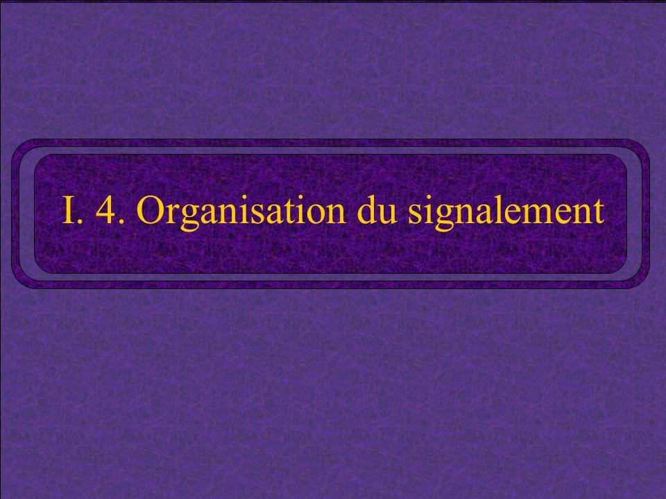 I. 4. Organisation du signalement