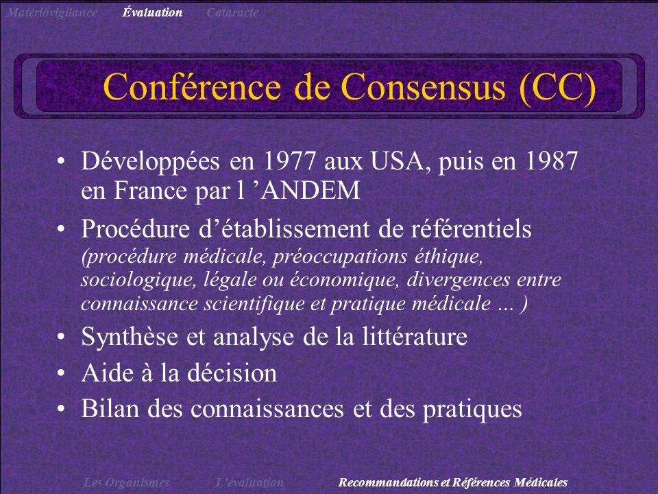Conférence de Consensus (CC)