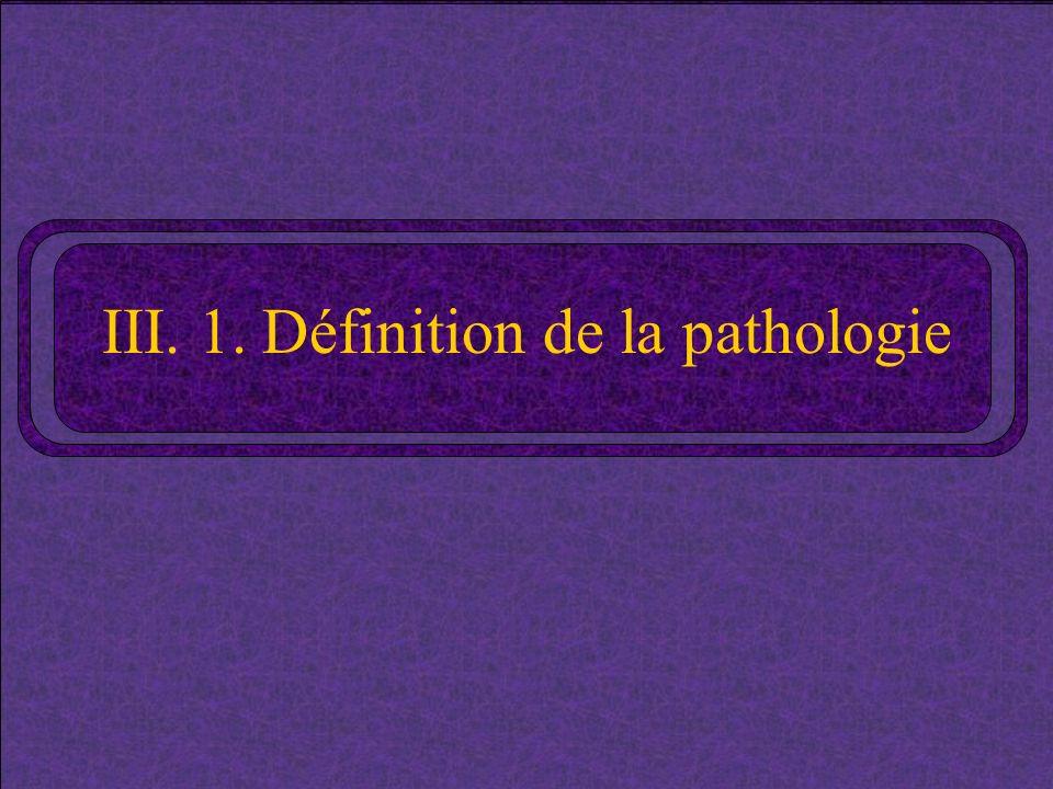 III. 1. Définition de la pathologie