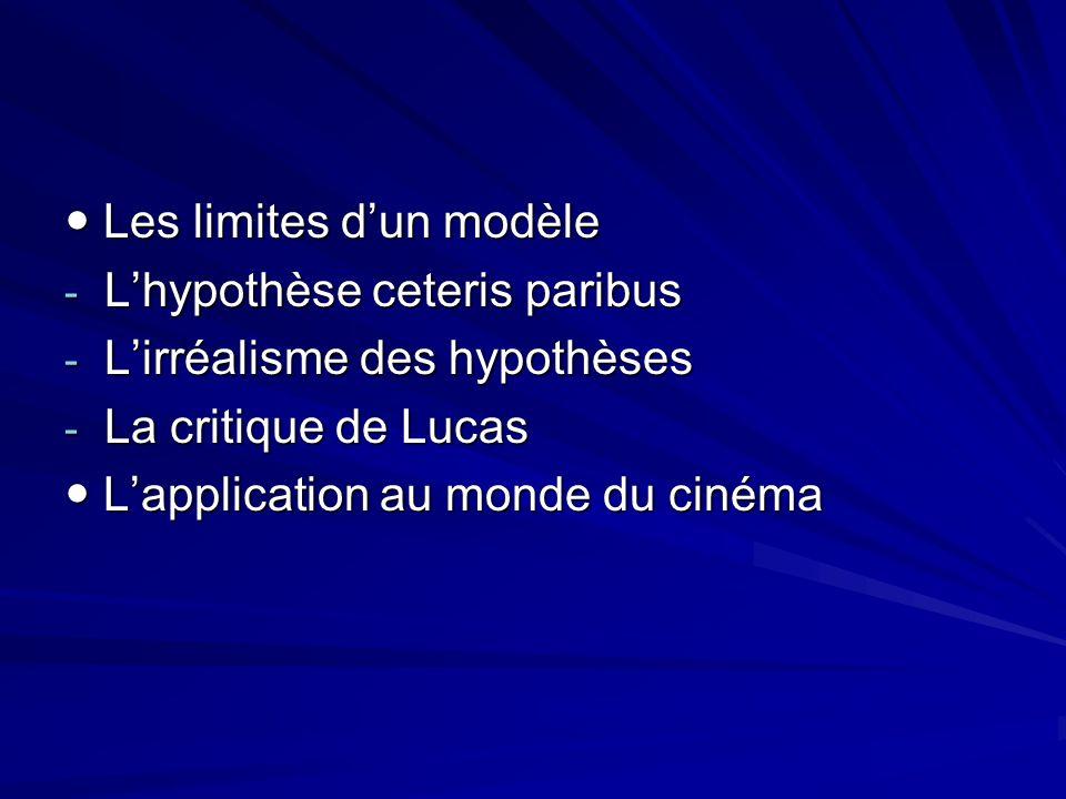  Les limites d'un modèle