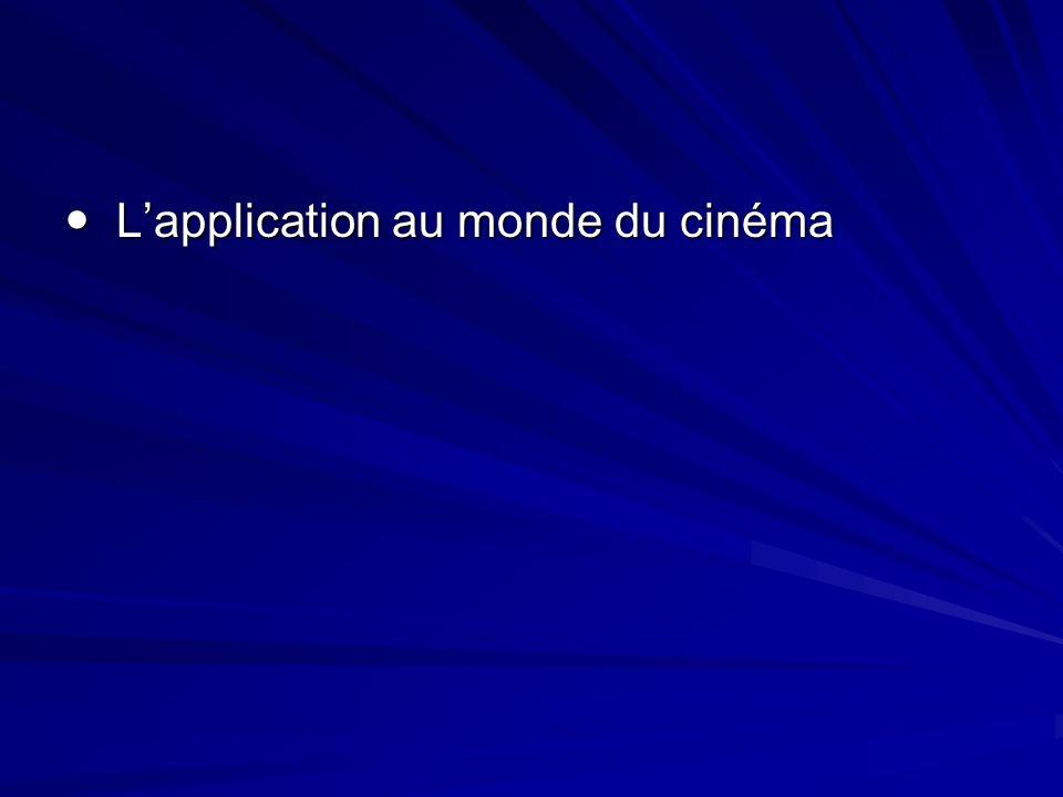  L'application au monde du cinéma
