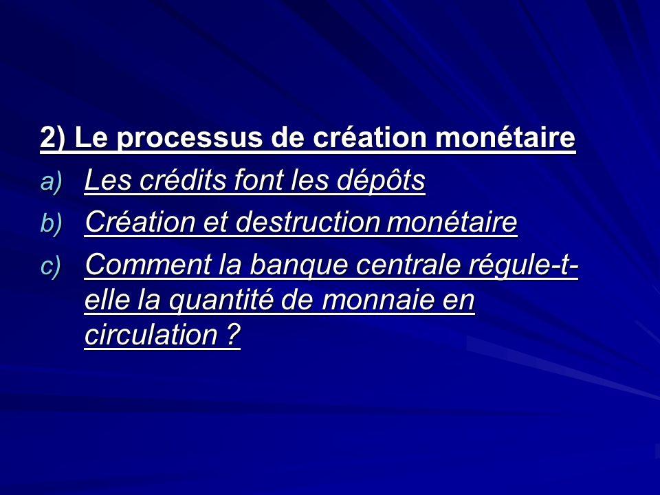 2) Le processus de création monétaire