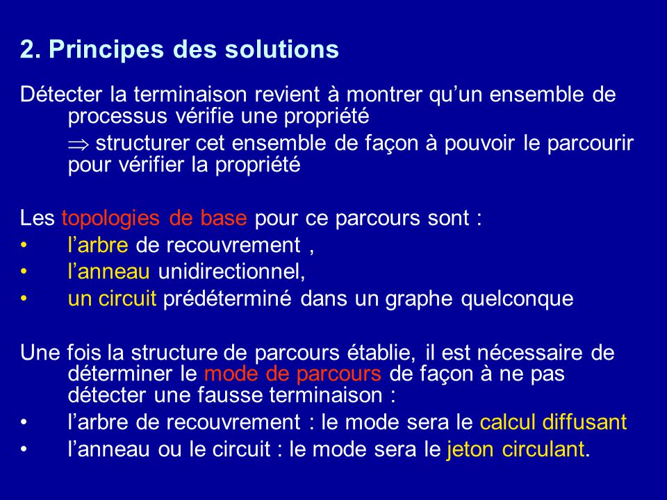 2. Principes des solutions