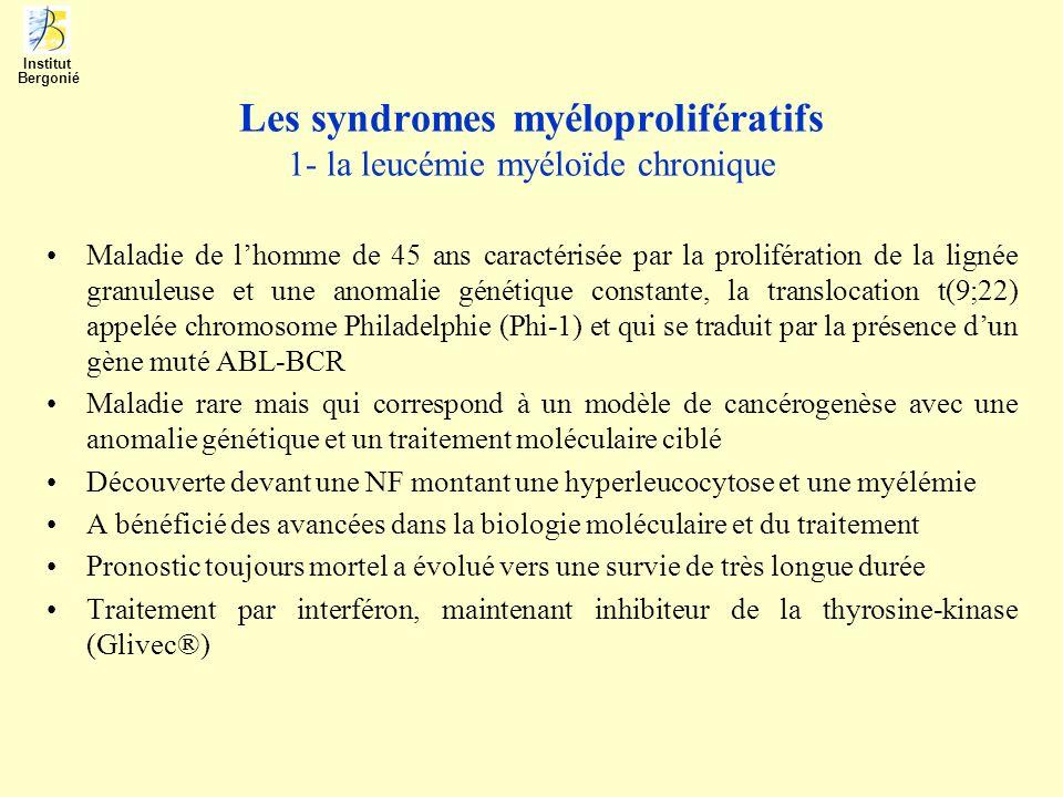 Les syndromes myéloprolifératifs 1- la leucémie myéloïde chronique