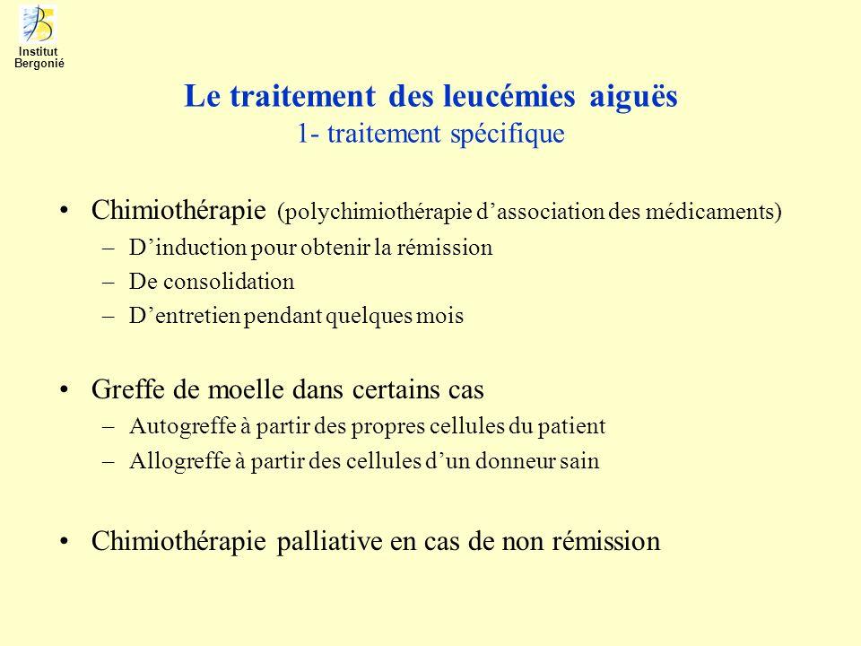 Le traitement des leucémies aiguës 1- traitement spécifique