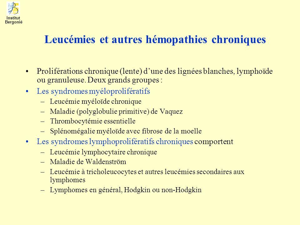 Leucémies et autres hémopathies chroniques