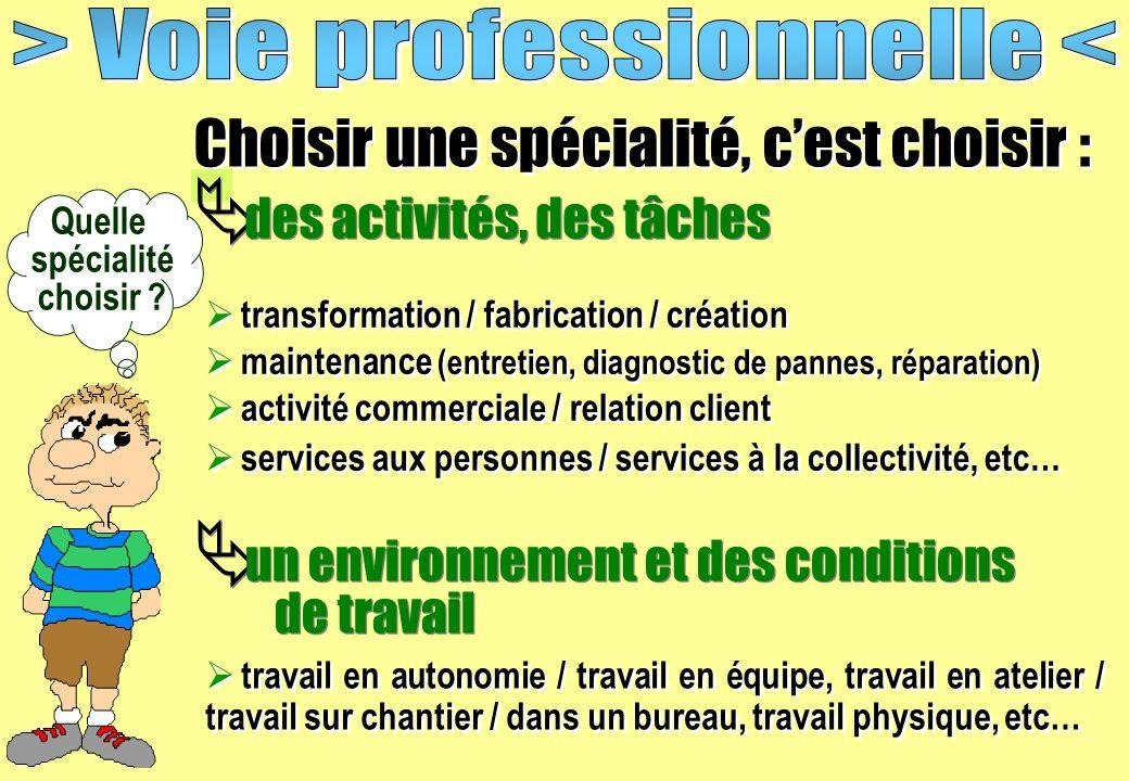 > Voie professionnelle <