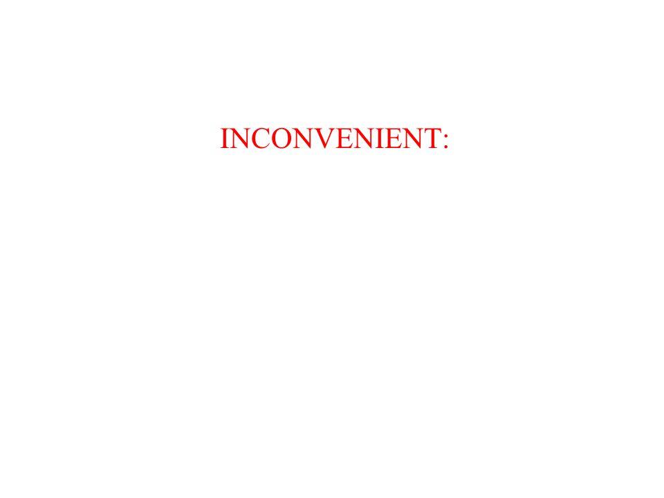 INCONVENIENT: