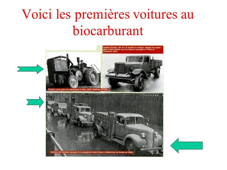 Voici les premières voitures au biocarburant
