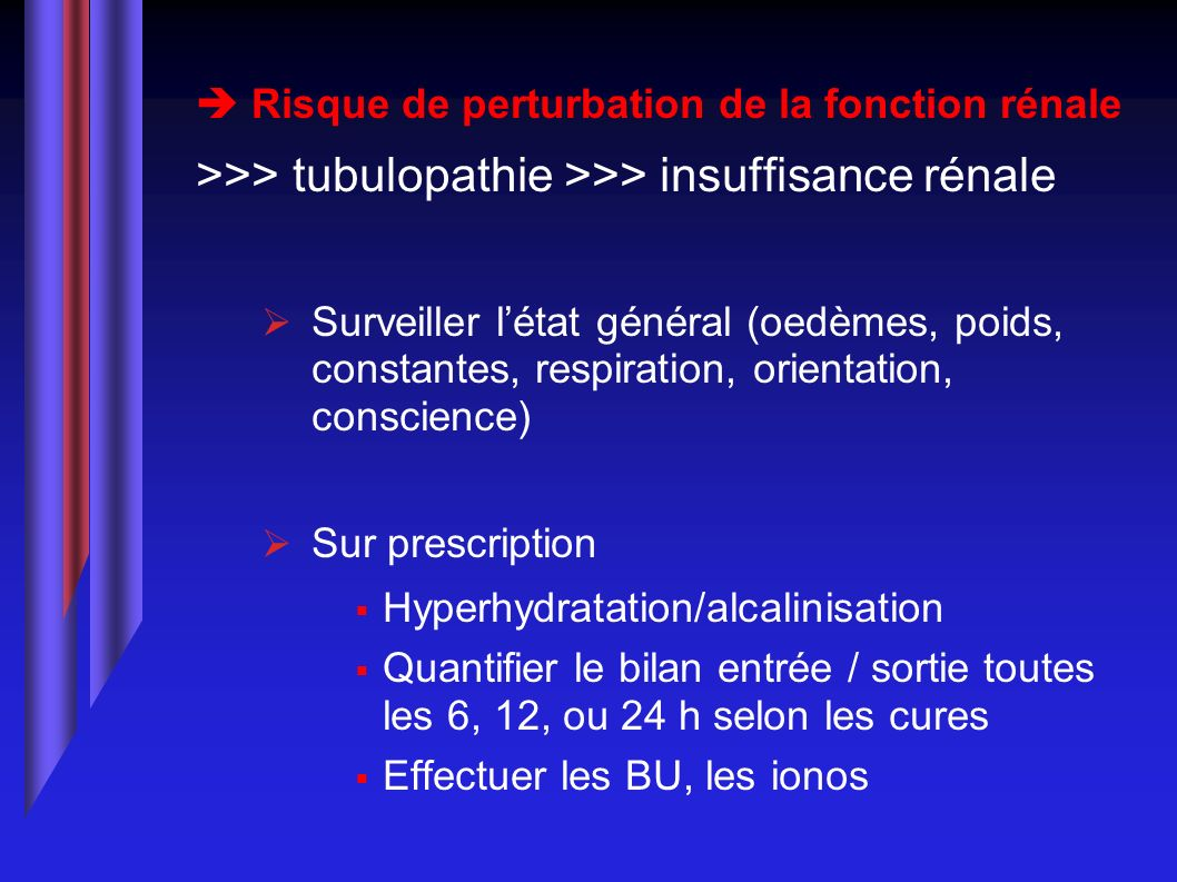 >>> tubulopathie >>> insuffisance rénale