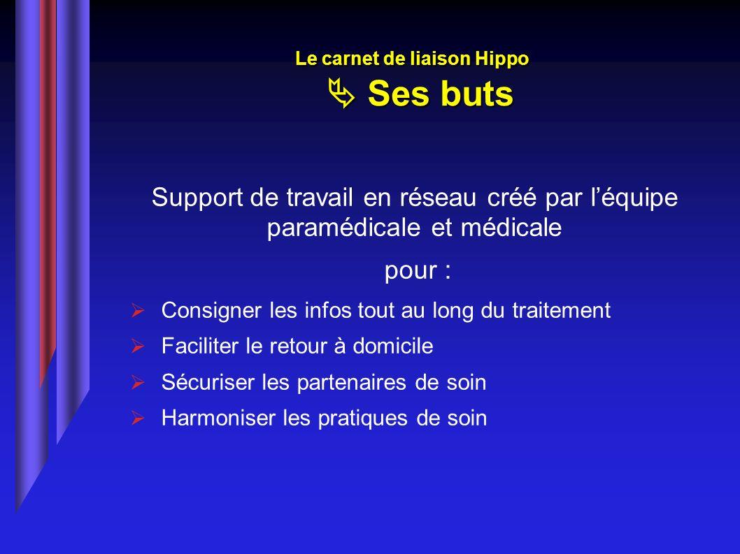 Le carnet de liaison Hippo  Ses buts