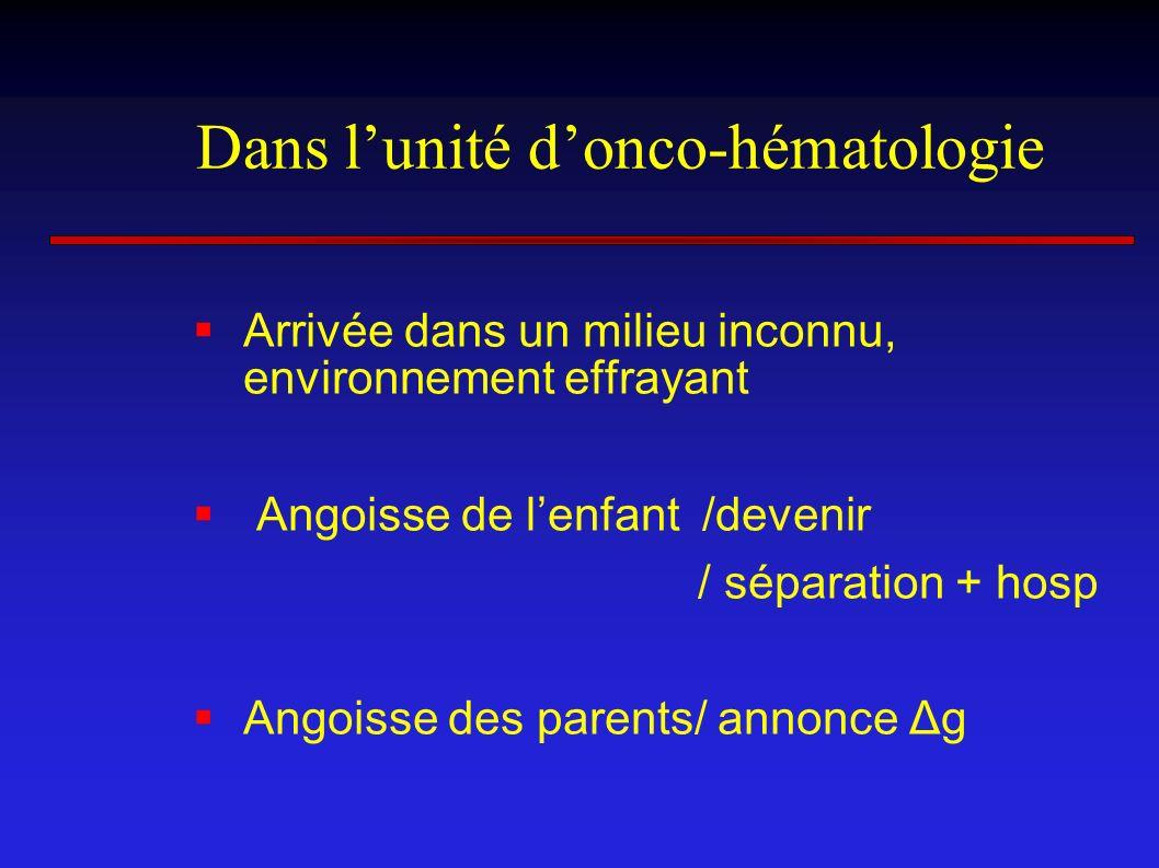 Dans l'unité d'onco-hématologie