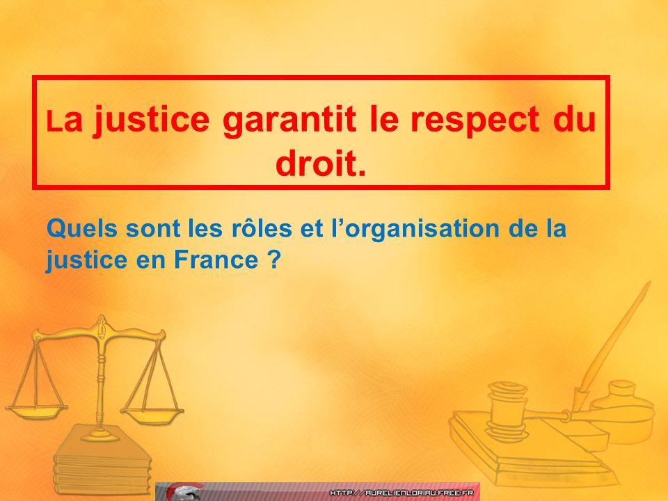 Quels sont les rôles et l'organisation de la justice en France