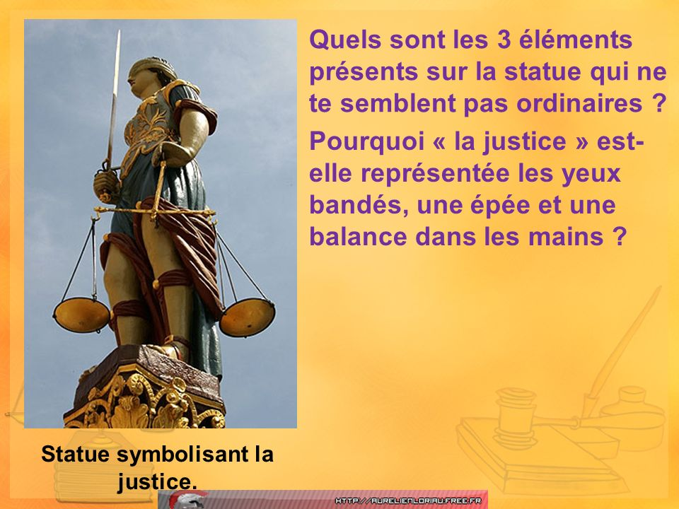 Statue symbolisant la justice.
