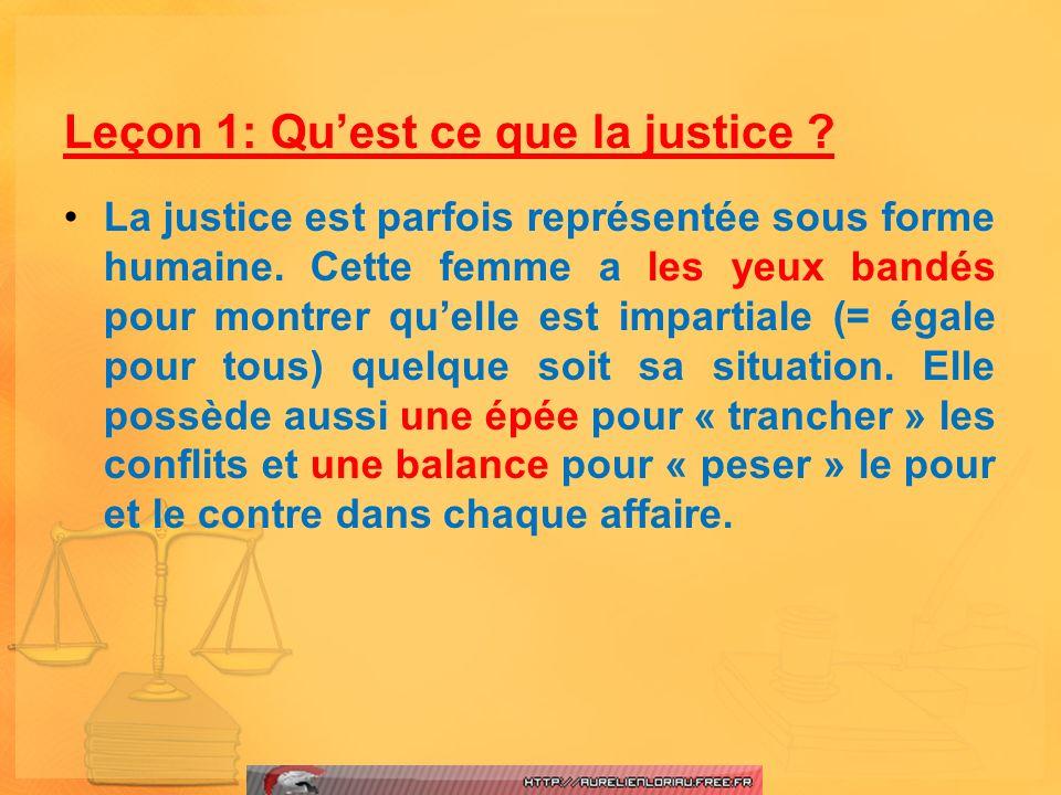 Leçon 1: Qu'est ce que la justice