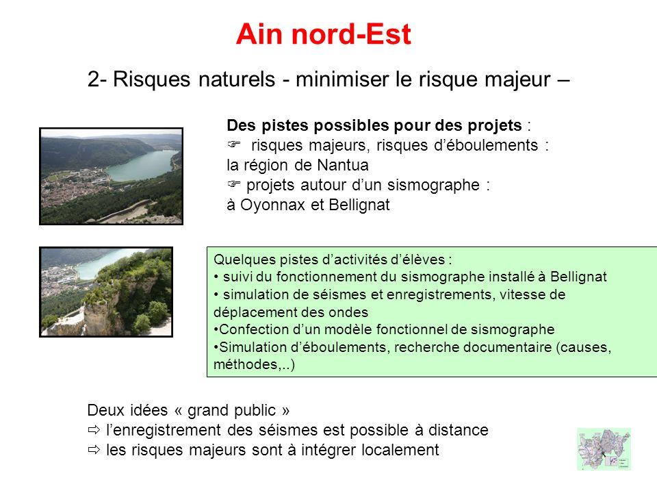 Ain nord-Est 2- Risques naturels - minimiser le risque majeur –