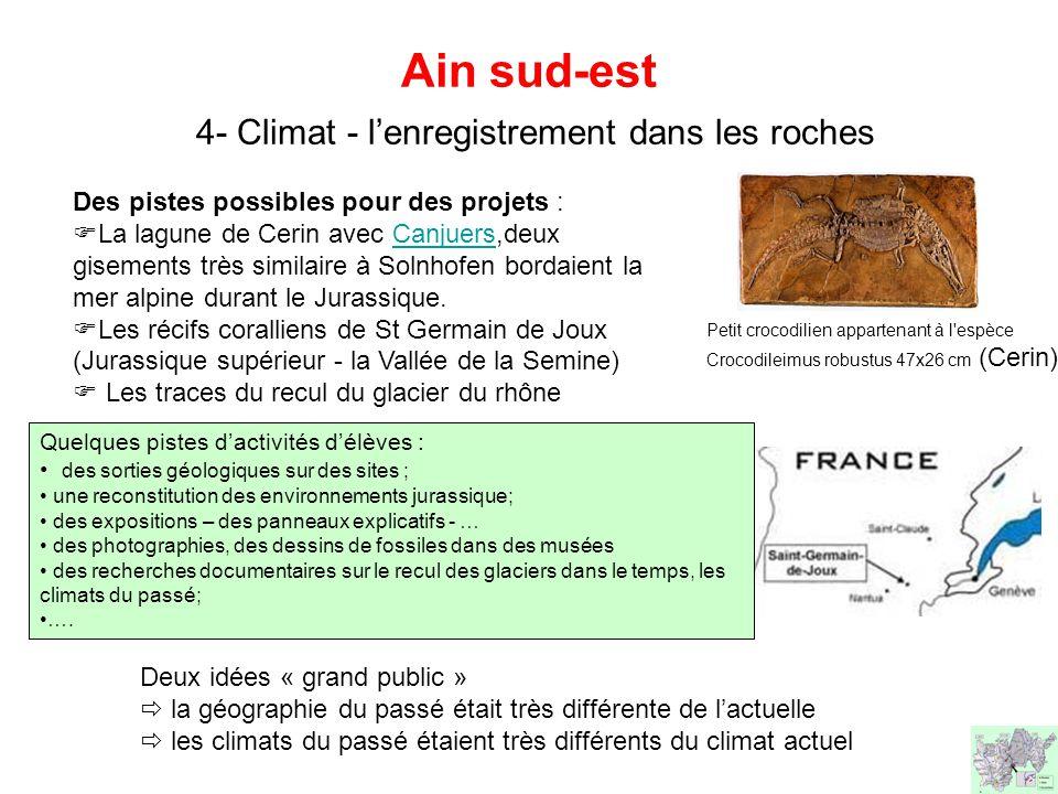 Ain sud-est 4- Climat - l'enregistrement dans les roches