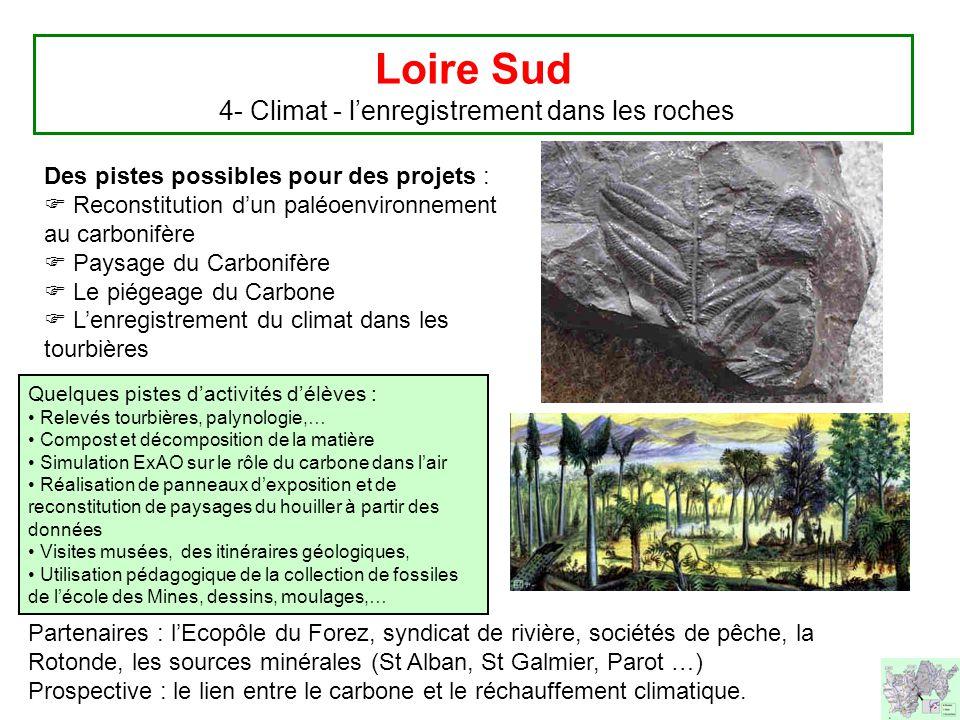 Loire Sud 4- Climat - l'enregistrement dans les roches