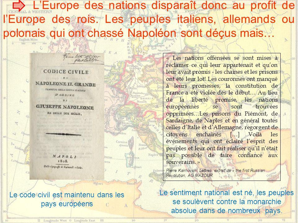Le code civil est maintenu dans les pays européens