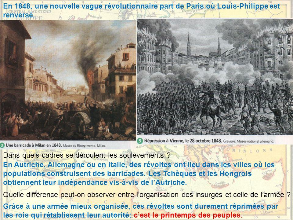En 1848, une nouvelle vague révolutionnaire part de Paris où Louis-Philippe est renversé.