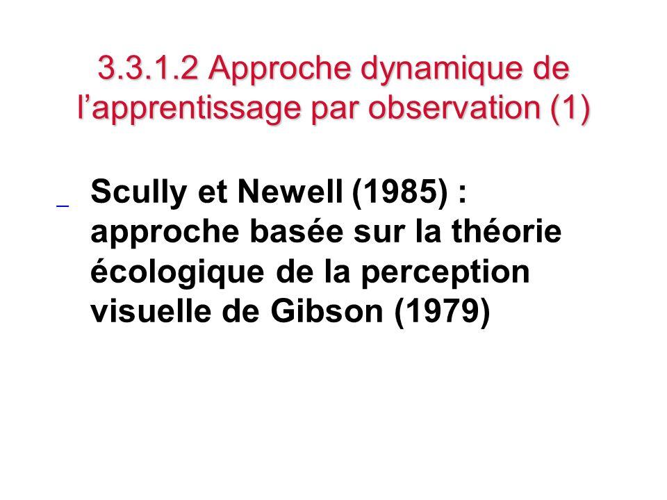 3.3.1.2 Approche dynamique de l'apprentissage par observation (1)