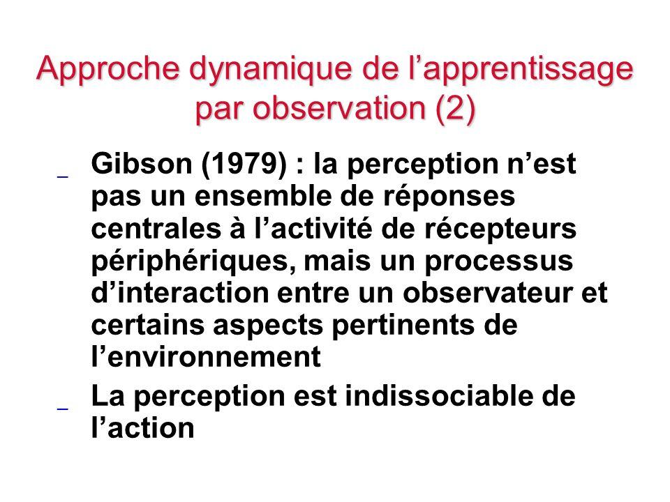 Approche dynamique de l'apprentissage par observation (2)