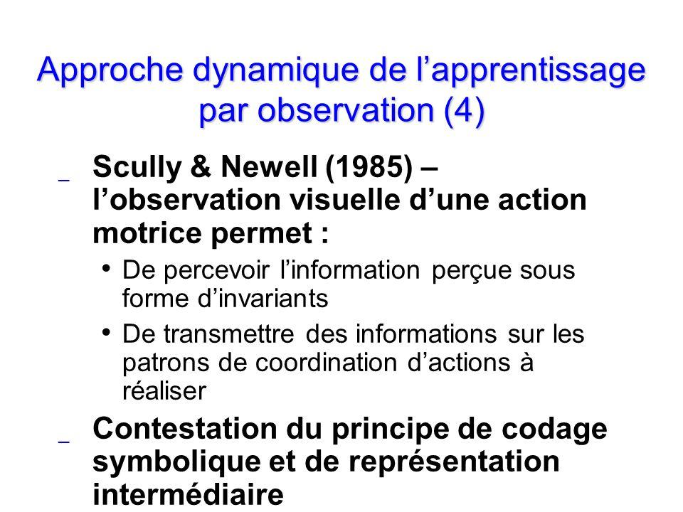 Approche dynamique de l'apprentissage par observation (4)
