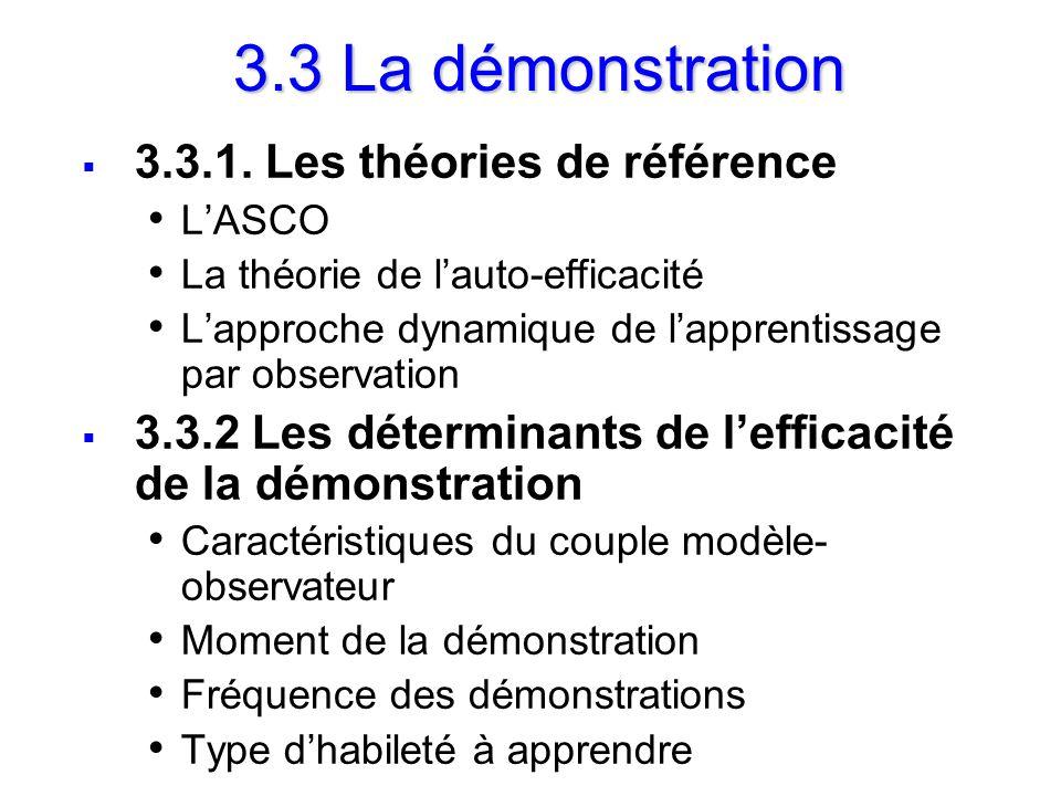 3.3 La démonstration 3.3.1. Les théories de référence