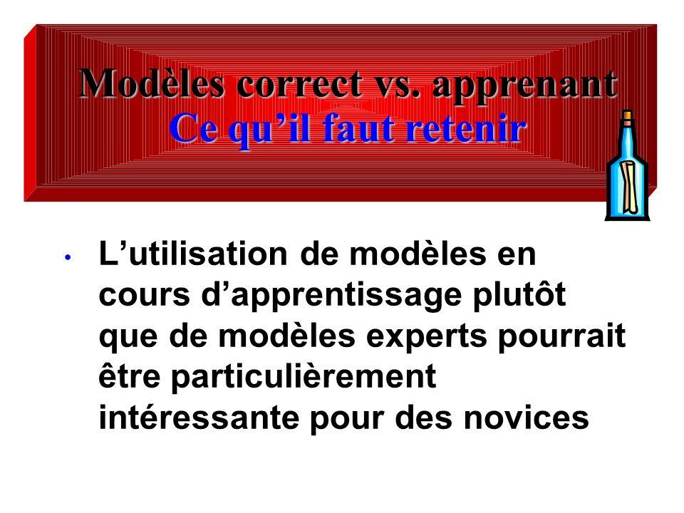 Modèles correct vs. apprenant