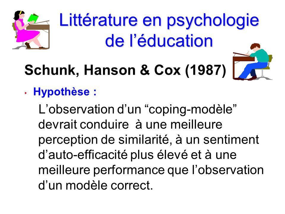 Littérature en psychologie de l'éducation