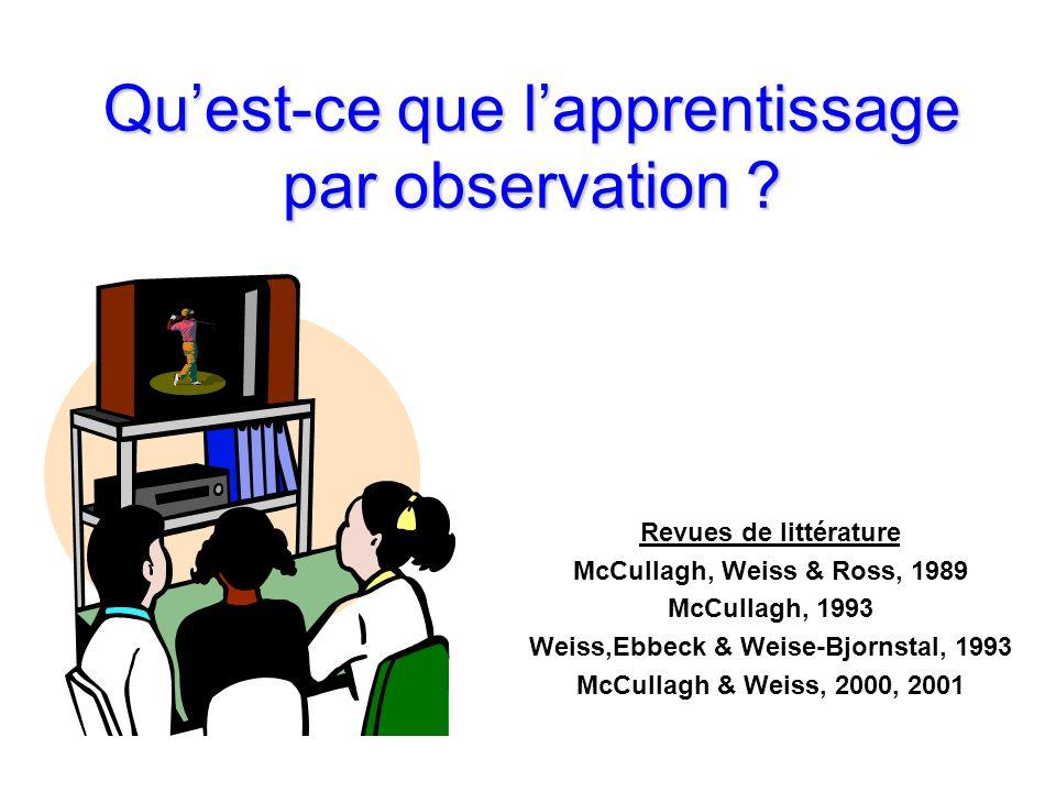 Qu'est-ce que l'apprentissage par observation