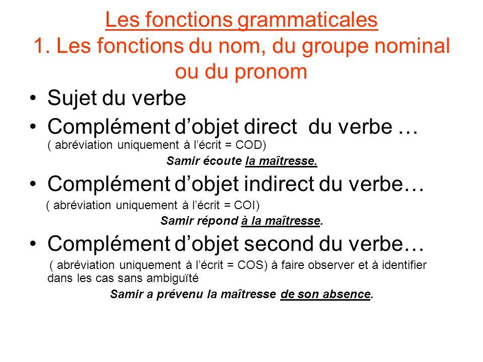Complément d'objet indirect du verbe…