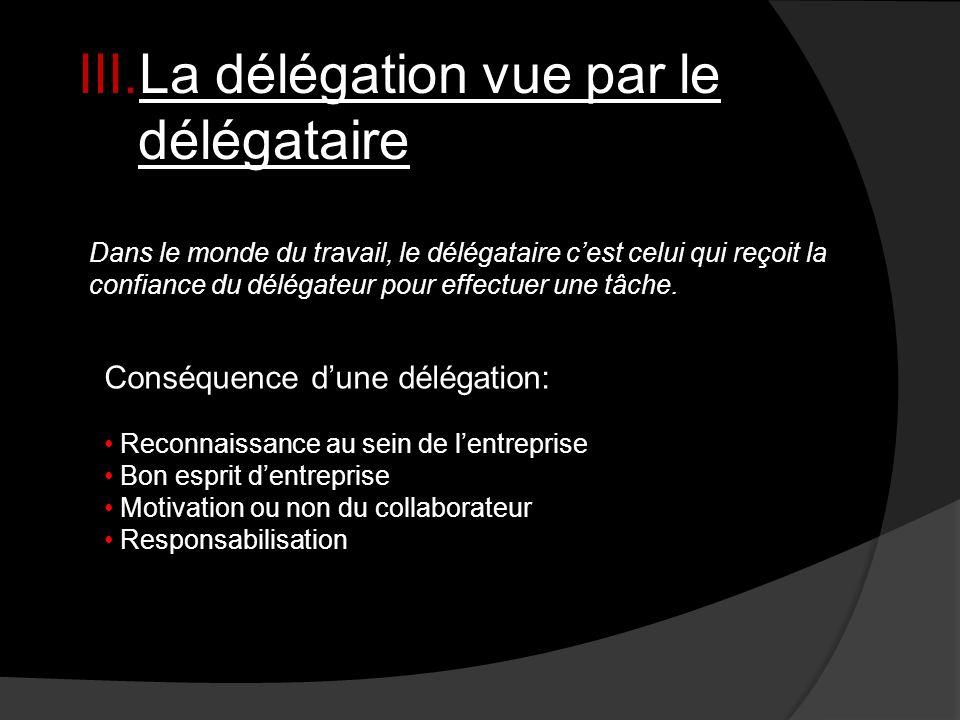 La délégation vue par le délégataire
