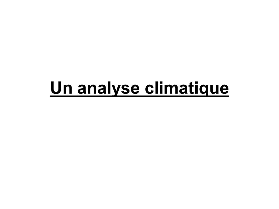 Un analyse climatique