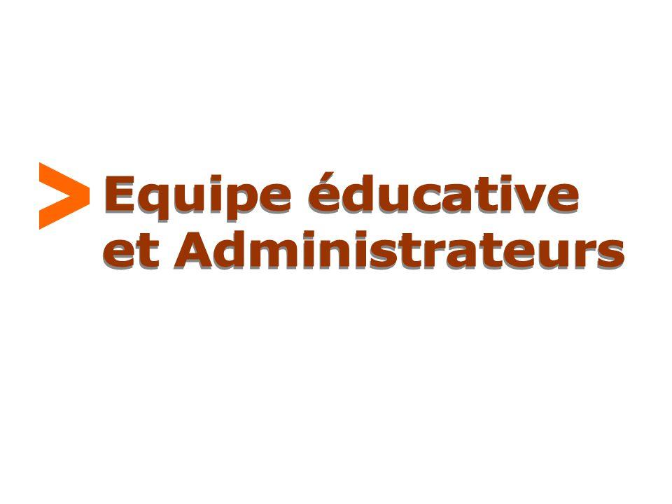 > Equipe éducative et Administrateurs