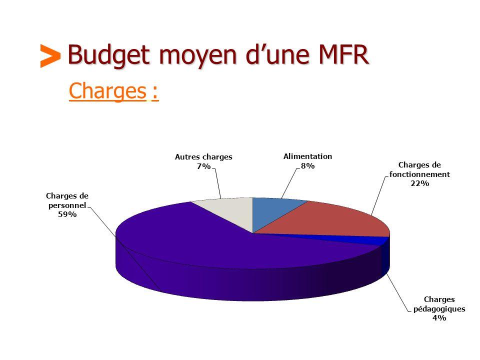 Budget moyen d'une MFR > Charges :